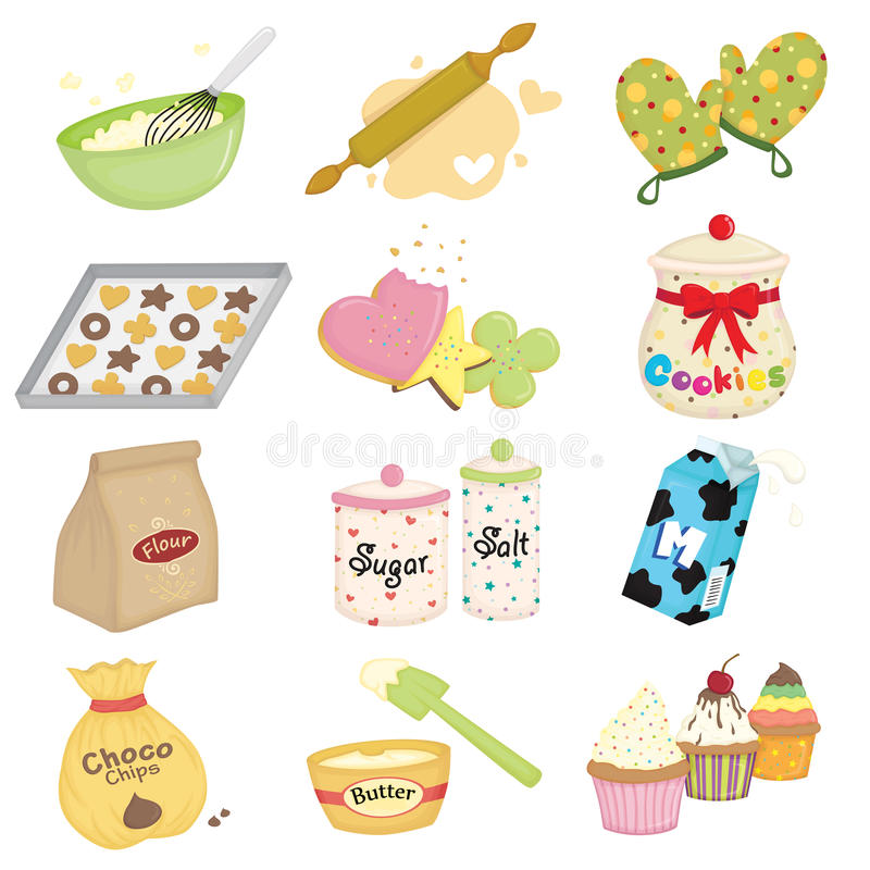 Baking icons royalty free illustration