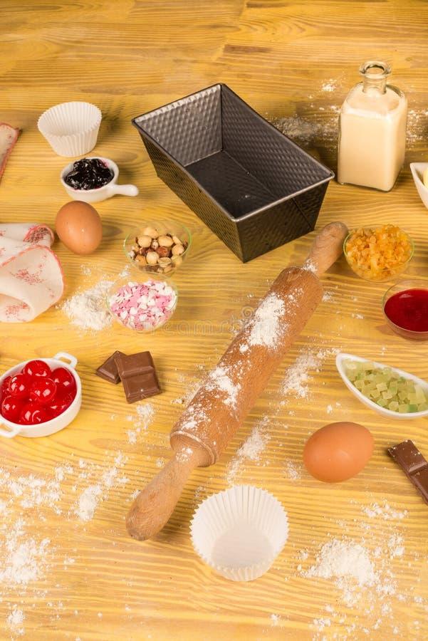 Baking ingredients still life stock image
