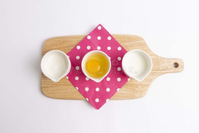 Baking ingredients : top view royalty free stock photo