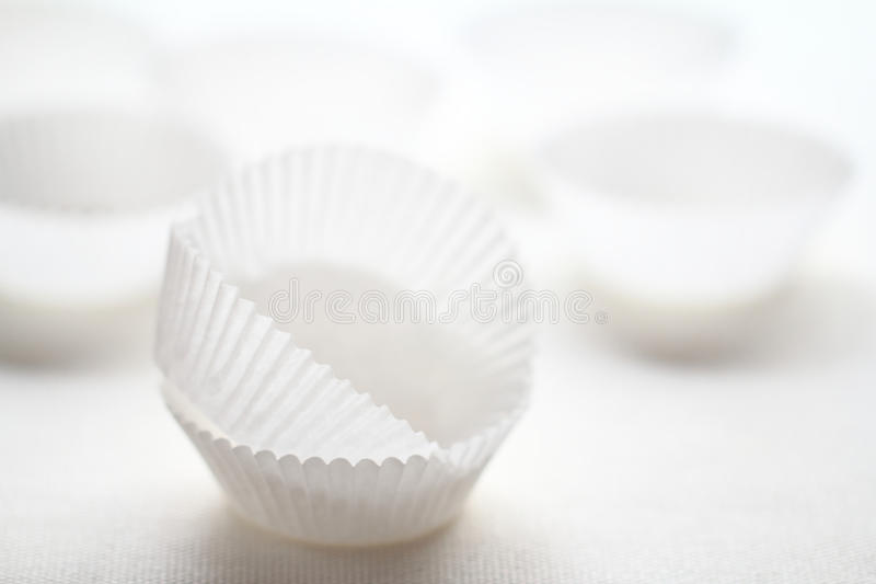 Baking paper cups stock photography