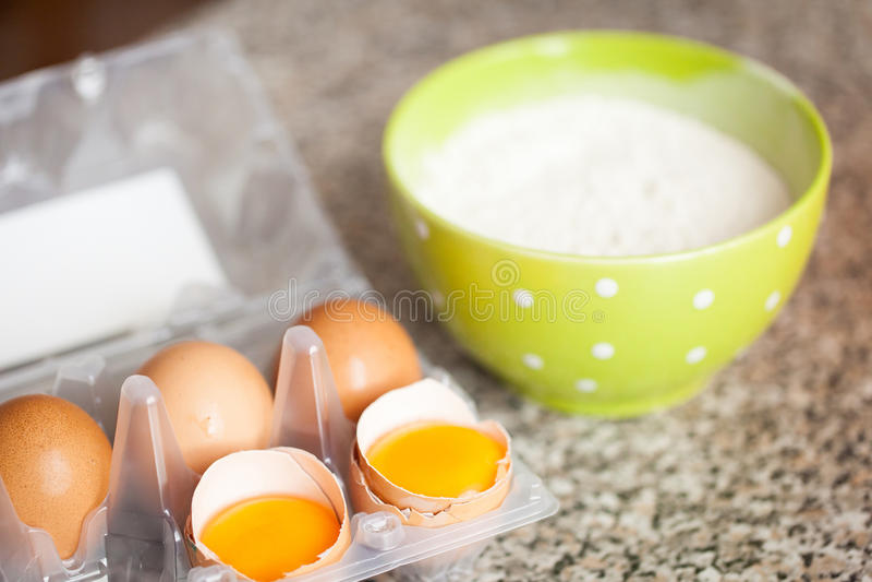 Baking preparation royalty free stock photo