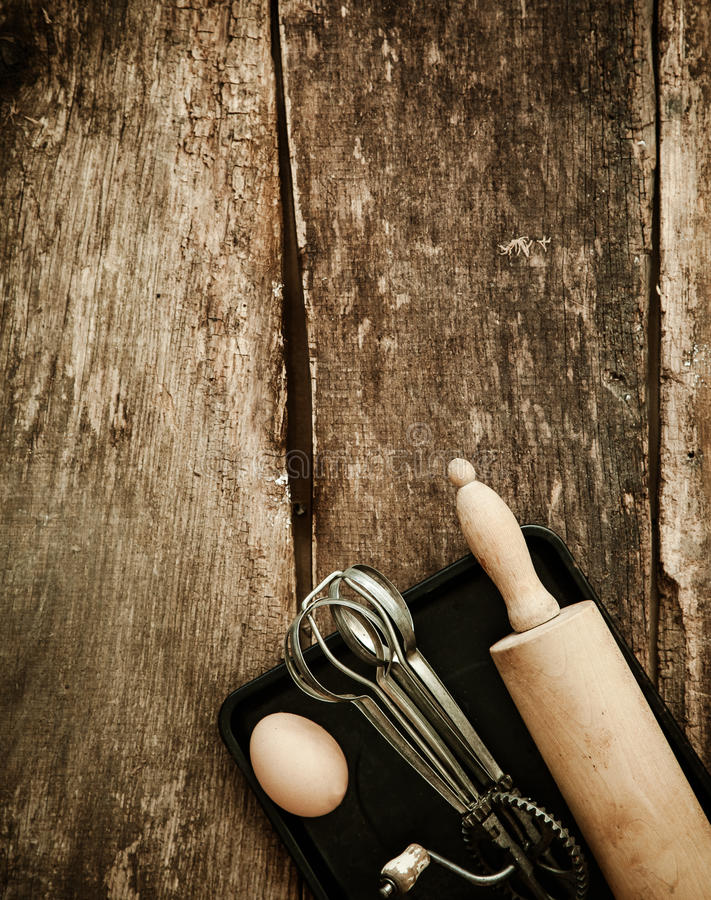 Download Baking in a rustic kitchen stock image. Image of board - 34300869