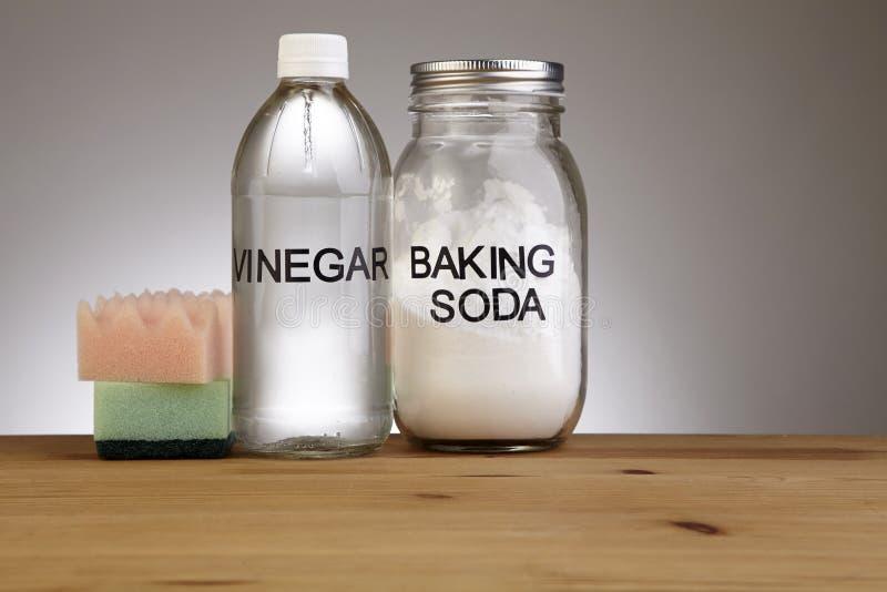 Baking soda with vinegar royalty free stock photo
