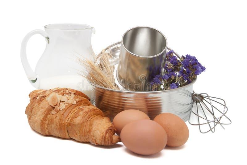 Baking utensil and ingredients stock photo