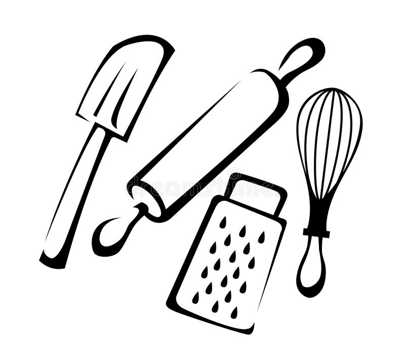 Download Baking Utensils Line art stock vector. Illustration of utensil - 32454563