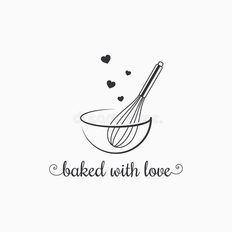 Free Baking With Wire Whisk Logo On White Background Stock Photo - 122448230