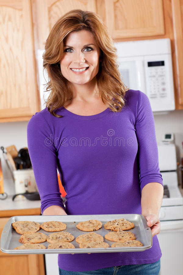 Baking woman royalty free stock photo