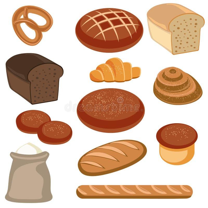 Bakkerij en banketbakkerswerken stock illustratie