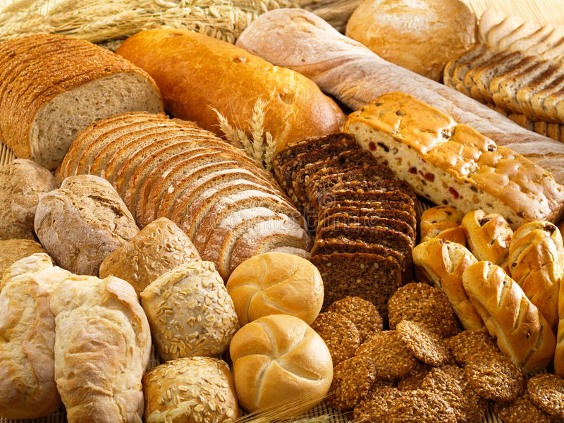 Bakkerijproducten stock afbeelding