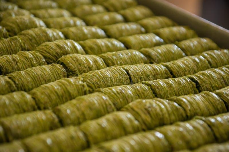 Baklava. Sweet Turkish pastries called baklava stock images