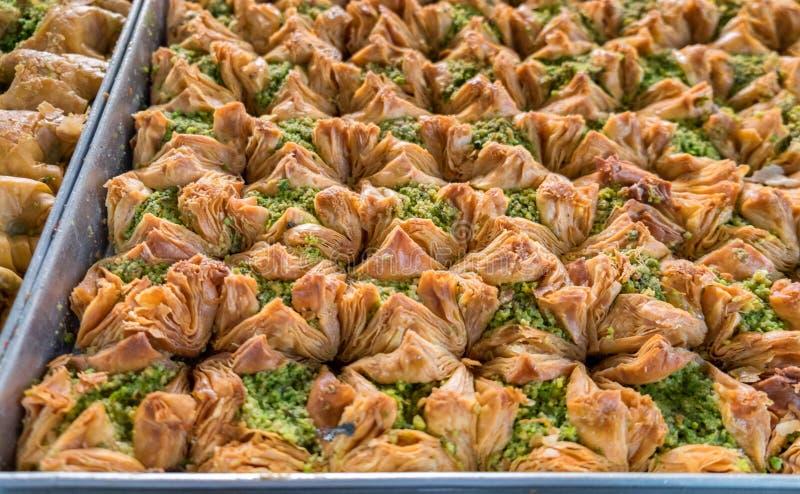 Baklava araba e turca tradizionale del dessert della pasticceria dei dolci immagine stock libera da diritti