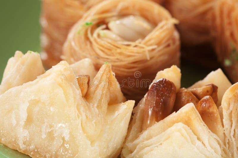 Baklava avec l'arachide image libre de droits