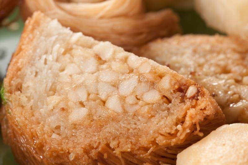 Baklava avec l'arachide images stock