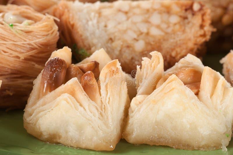 Baklava avec l'arachide image stock