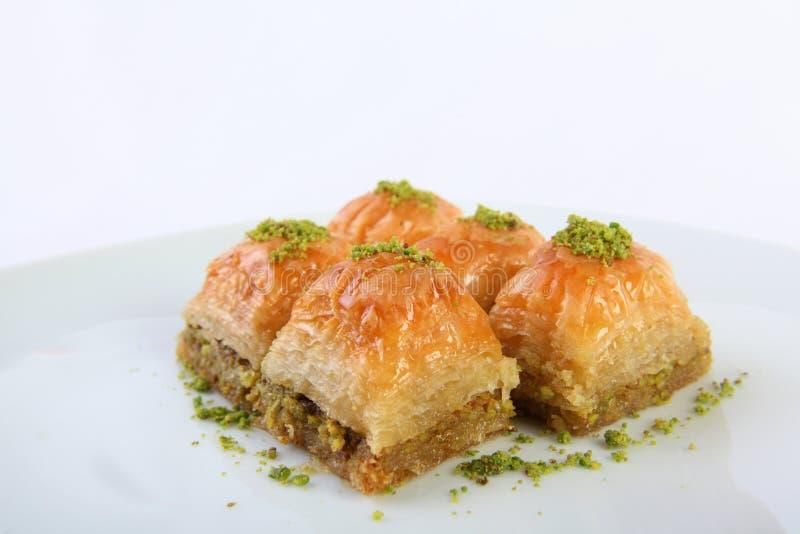 Baklava con el pistacho imagenes de archivo