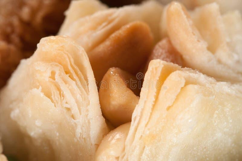 Baklava con l'arachide fotografie stock libere da diritti