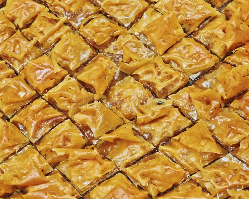 Baklava, doce oriental delicioso imagem de stock royalty free