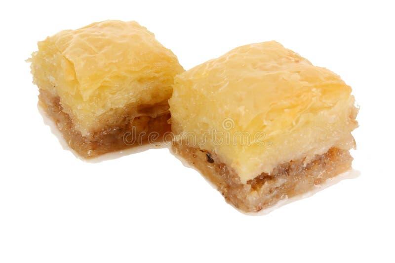 Baklava orientale tradizionale del dessert con sciroppo fotografia stock libera da diritti