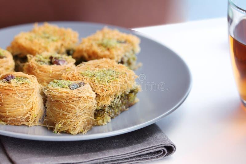 Baklava perfumado para uma sobremesa fabulosa imagens de stock