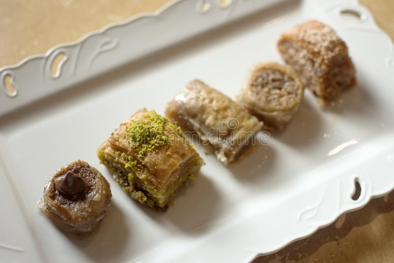 Baklava turecczyzny deser zdjęcie royalty free