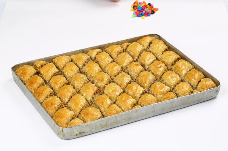 Baklava. Turkish baklava,also well known in middle east ,close up. Baklava most famous turkish dessert also most known at the foreign countries of turkey stock image