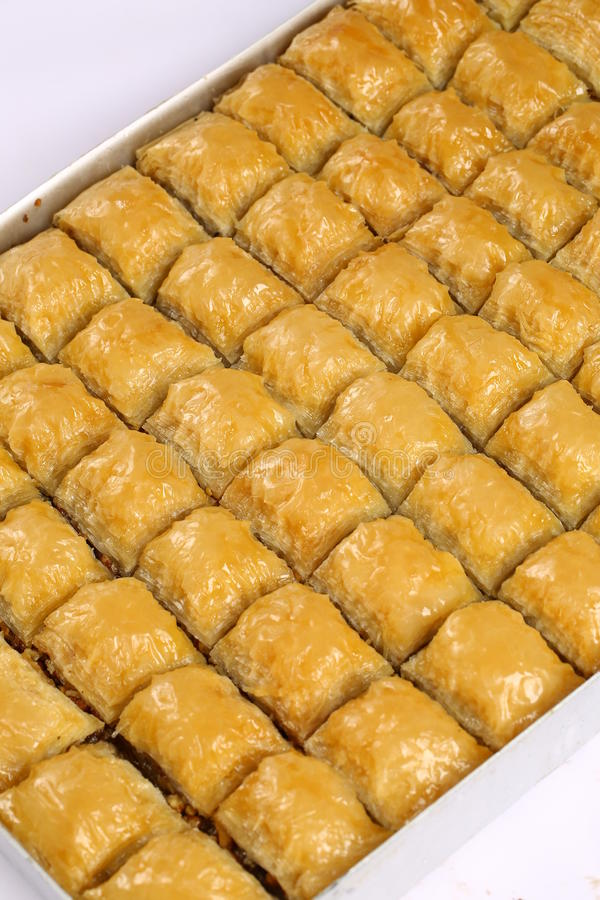 Baklava. Turkish baklava,also well known in middle east ,close up. Baklava most famous turkish dessert also most known at the foreign countries of turkey royalty free stock photography