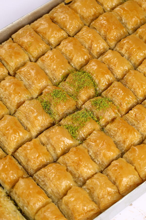 Baklava. Turkish baklava,also well known in middle east ,close up. Baklava most famous turkish dessert also most known at the foreign countries of turkey stock images