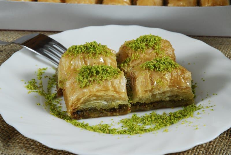 Baklava - Turks dessert - baklawa stock foto's