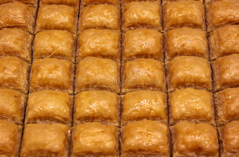 Baklava turque traditionnelle photographie stock