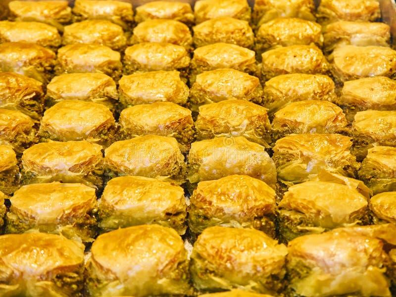 Baklava, uma sobremesa árabe tradicional imagem de stock