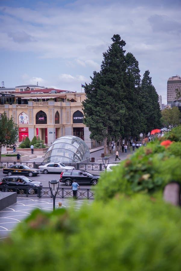 Bakou, Azerbaïdjan, rue centrale photographie stock