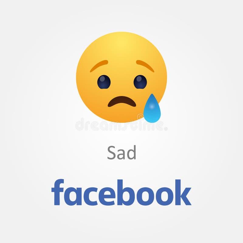 Bakou, Azerba?djan - 23 avril 2019 : Facebook nouveau comme le bouton Emoji illustration libre de droits