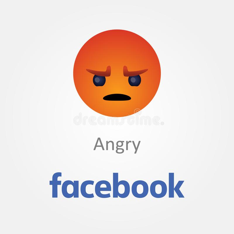 Bakou, Azerba?djan - 23 avril 2019 : Facebook nouveau comme le bouton Emoji illustration stock