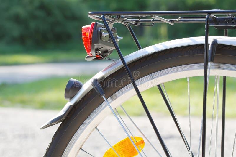 Bakre closeup för cykelhjul royaltyfri fotografi