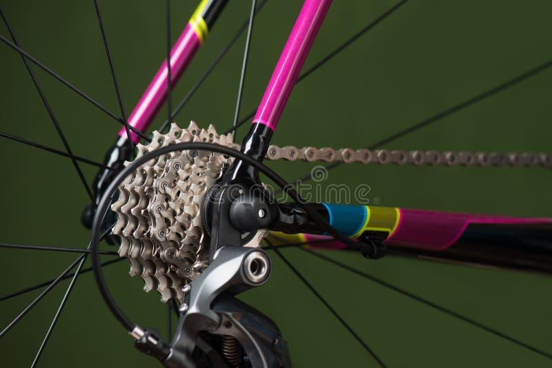 Bakre cykelväxling royaltyfria bilder