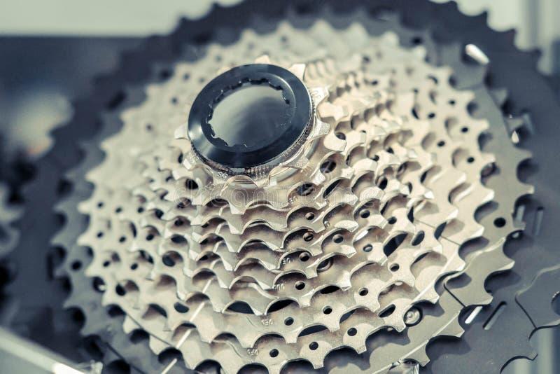 Bakre kassett för cykel arkivbilder