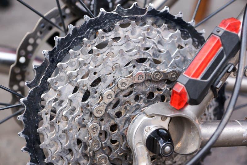 Bakre kassett för cykel royaltyfri bild
