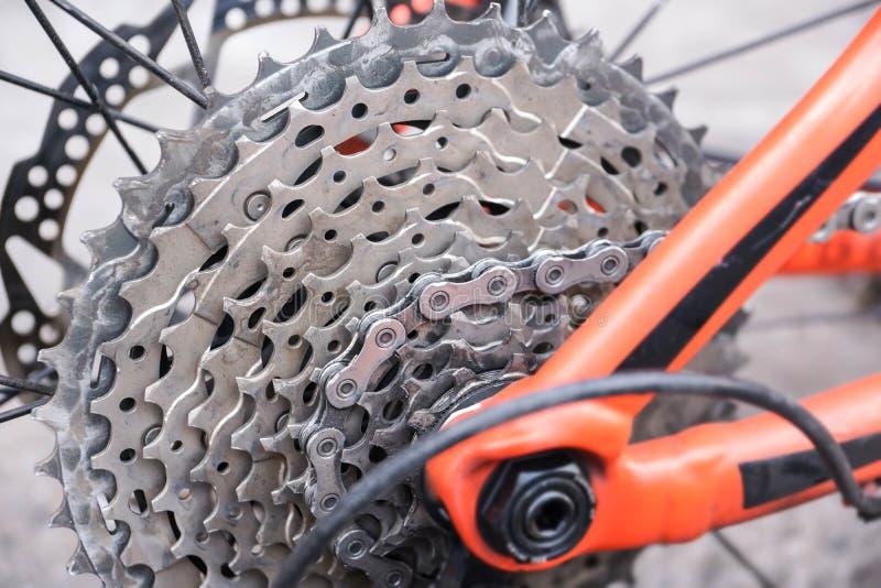 Bakre kassett för cykel arkivbild