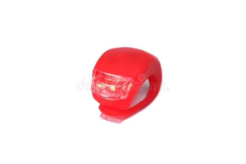 Bakre rött ljusreflektor för cykel arkivfoto