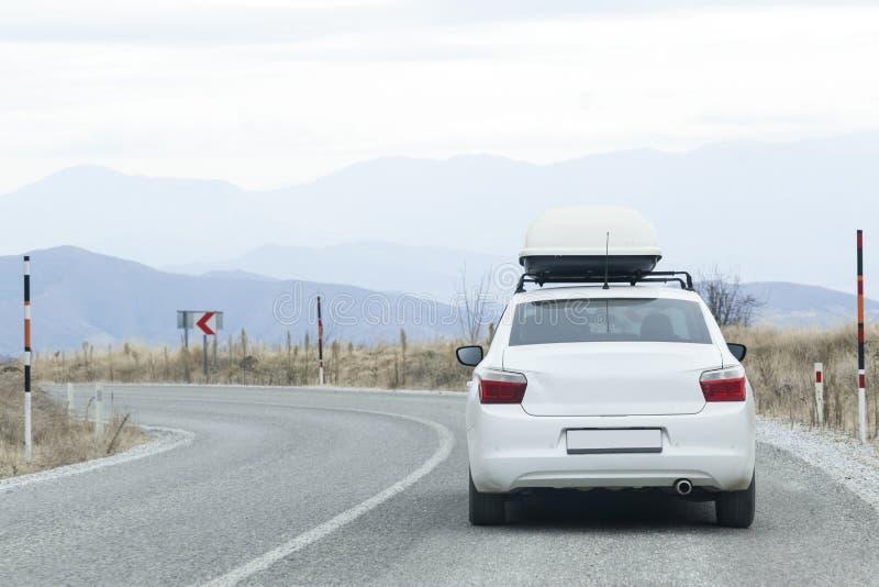 bakre sikt för bil royaltyfria bilder
