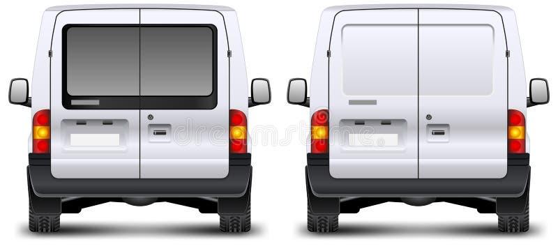 Bakre sikt för minivan royaltyfri illustrationer