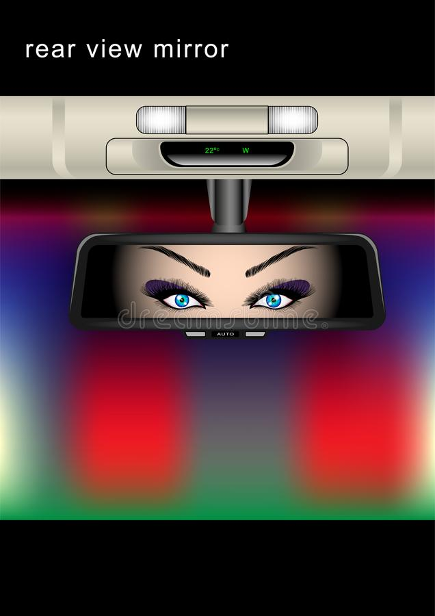 bakre sikt för spegel stock illustrationer