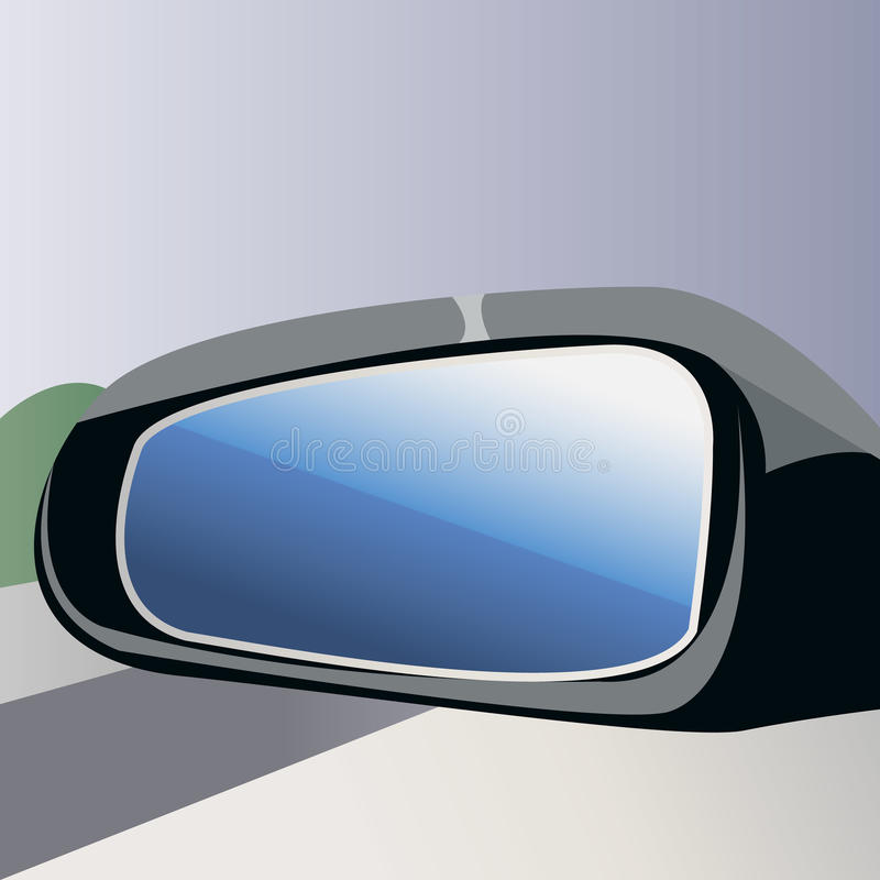 bakre sikt för spegel royaltyfri illustrationer