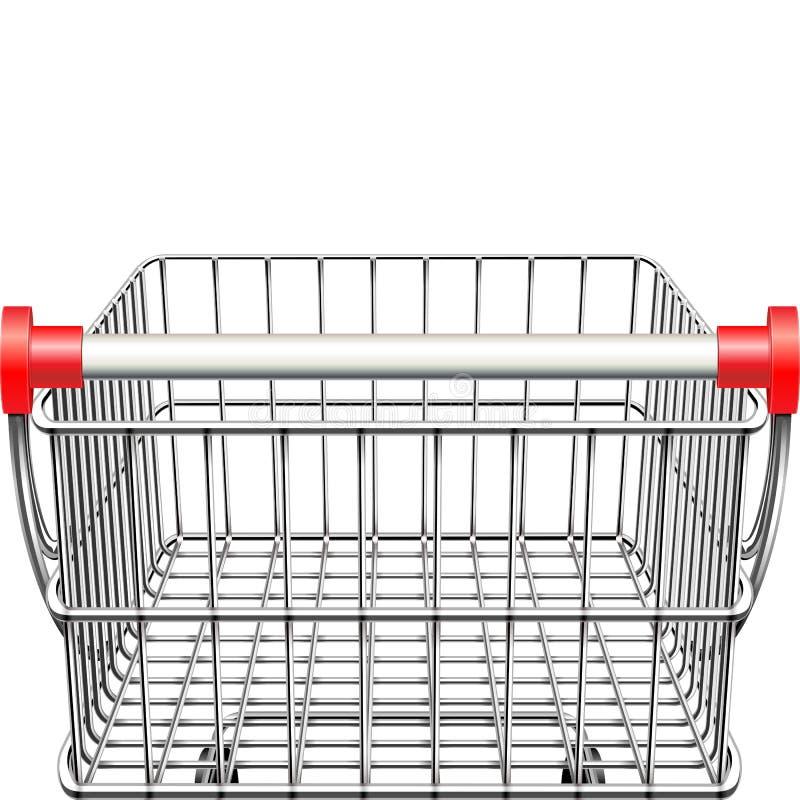 Bakre sikt för vektorsupermarketvagn stock illustrationer