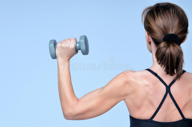 Download Bakre Sikt På Sportkonditionflicka Fotografering för Bildbyråer - Bild av muskel, energi: 76701613