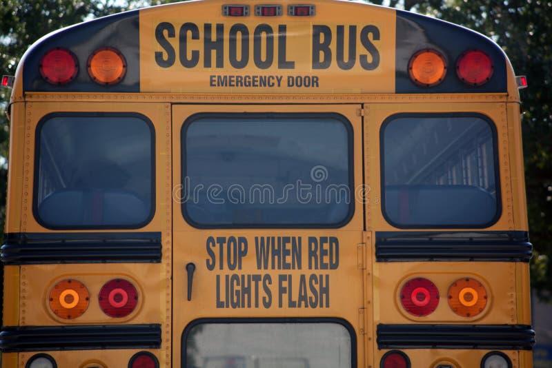 bakre skola för buss fotografering för bildbyråer