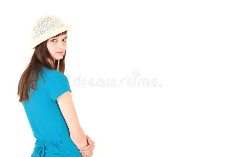 bakre tonårs- sikt för flicka fotografering för bildbyråer