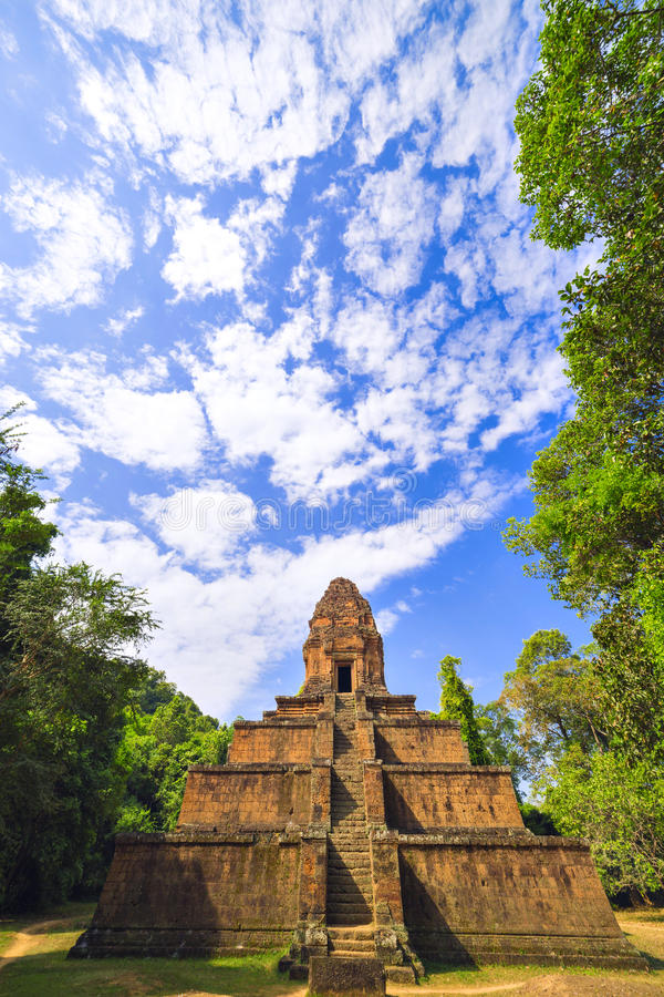 Baksei Chamkrong, 10世纪印度寺庙,一部分的吴哥窟 库存照片