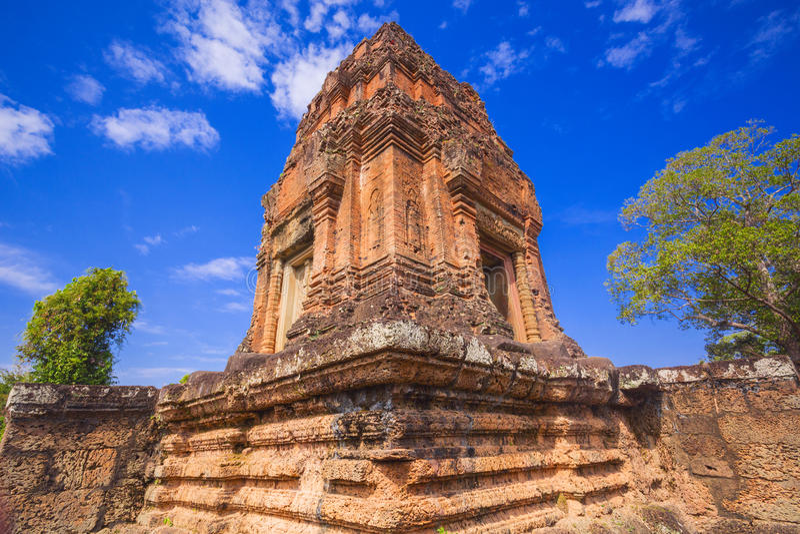 Baksei Chamkrong, 10世纪印度寺庙,一部分的吴哥窟 库存图片