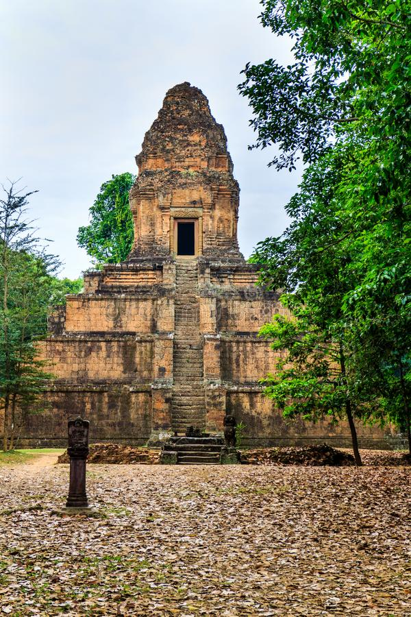 Baksei Chamkrong pyramid temple royalty free stock photo